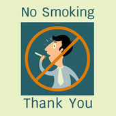 No smoking funny symbol — Stock Vector