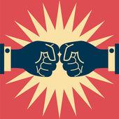 Business fighting — Stock Vector