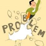 Постер, плакат: Breaking through the problem
