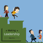 Leadership macchin — Vettoriale Stock