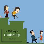 リーダーシップのマシンを作る — ストックベクタ
