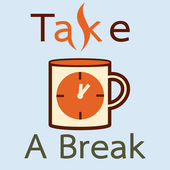 Take a break with coffee — Vector de stock
