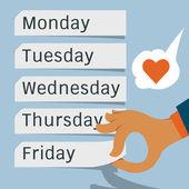 I love Friday. — Stock Vector
