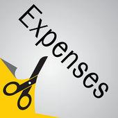 Expense cut — Stock Vector