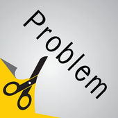 Cut problem — Stock vektor