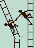 Help and survive in business — Vector de stock