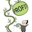 Stock Vector: Gain profit