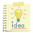 Idea note — Image vectorielle