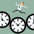 Running with time — Stock Vector