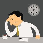 Stresli iş adamı — Stok Vektör
