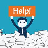 Help me! — Stock Vector