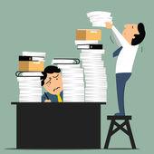 Overload work — Stock Vector
