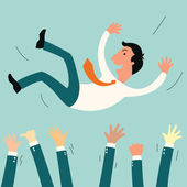Success businessman — Stock Vector
