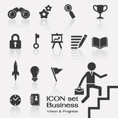 Business vision in progress icon — Stock Vector