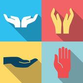 Hand pictogram plat ontwerp — Stockvector