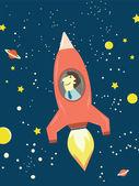 Man rocket — Stock Vector