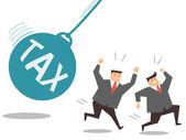Tax pendulum — Stock Vector