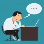 Businessman thinking — Stock Vector