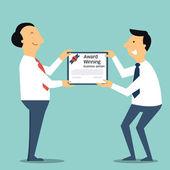 Receive award certification — Stock Vector