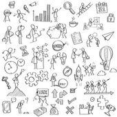 Business in sketching — 图库矢量图片