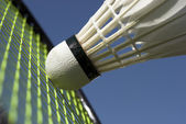 Makro badminton — Stockfoto