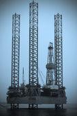 Danish oil rig — Stock Photo