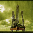 Stock Photo: Offshore oilrig