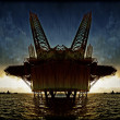 Offshore oil platform illustration — Stock Photo