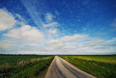 Gravel road — Stock Photo