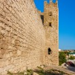 Genoese fortress in the town of Feodosia — Stock Photo
