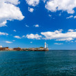 Stock Photo: View of lighthouse in Yalta. Yalta.