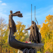 Monument to founders of Kiev. - Stock Photo
