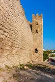 Fortaleza genovesa en la ciudad de feodosia — Foto de Stock