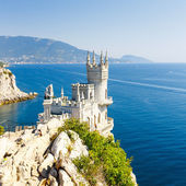 Cut-away of the South Coast of Crimea Yalta, Swallow's Nest Caste — Stock Photo