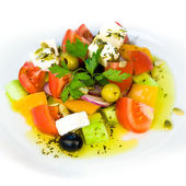 Greek Salad isolated on a white background — Stock Photo