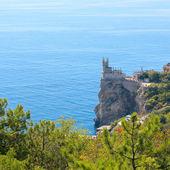 Cut-away of the South Coast of Crimea Yalta, Swallow's Nest Cast — Stock Photo