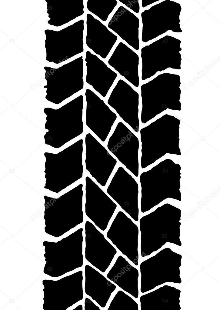vector clipart tire tracks - photo #15