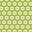 Background with daisies — Stock Vector