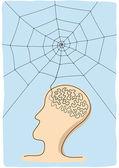 Conecte el pensamiento — Vector de stock