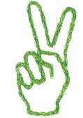 Green hand — Stock Vector