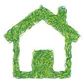 Ecological house — Stock Vector