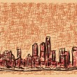 Royalty-Free Stock Imagem Vetorial: Shanghai sketch