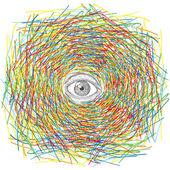 Psychedelische oog — Stockvector