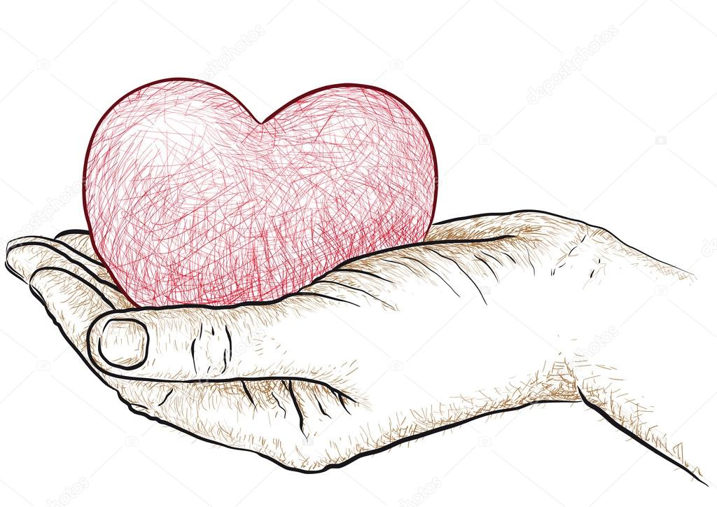 Heart in hand — Stock Vector © robodread #22851560