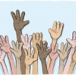Royalty-Free Stock Vector Image: Hands up
