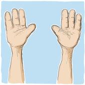 举起手来 — 图库矢量图片