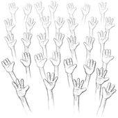Eller yukarı — Stok Vektör