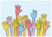 Mãos ao alto — Vetorial Stock