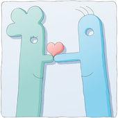 Nice couple — Stock Vector