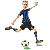 Inter Milan soccer player — Stock Vector